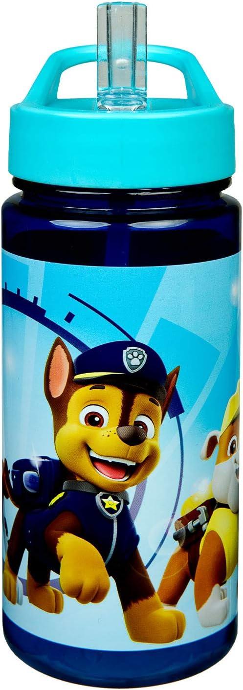Scooli PPAT9913 Aero - Botella de plástico con pajita integrada y boquilla para beber (500 ml)