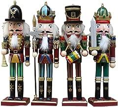 3PCS//Set 12CM Classique Casse Noisette Noel Figurine Peint /À La Main Paillettes Casse-Noisette En Bois Nutcracker Soldier Christmas Pour Maison Table Decoration De No/ël