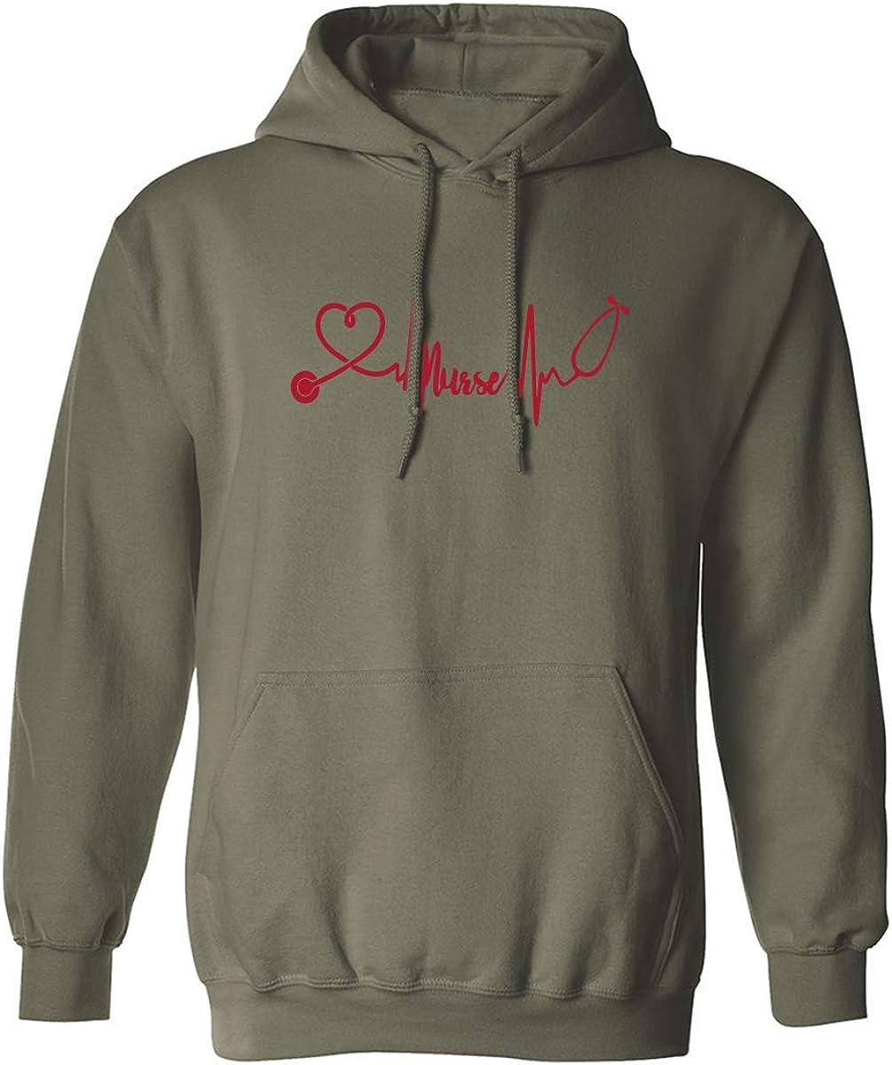 Love Nurses Adult Hooded Sweatshirt