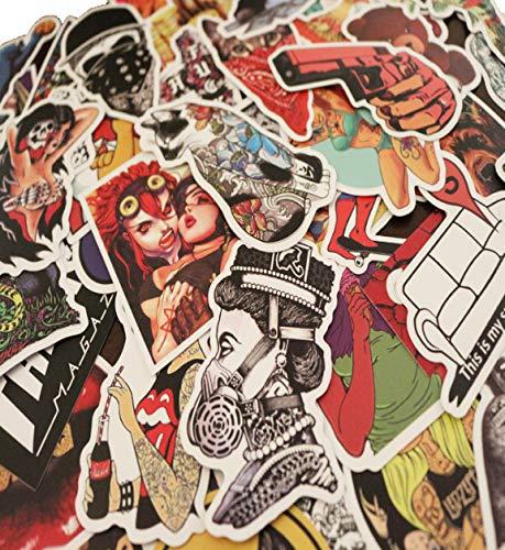 50 pcs New Fashion Graffiti Style Personality Stickers For M