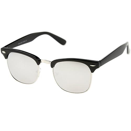 e4dfe637657 zeroUV Designer Inspired Classic Half Frame Horned Rim Sunglasses
