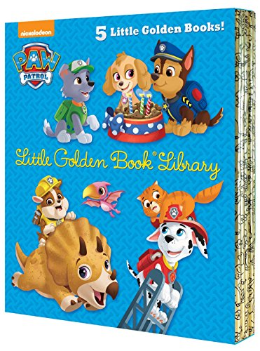 PAW Patrol Little Golden Book Library (PAW Patrol): Itty-Bitty Kitty Rescue; Puppy Birthday!; Pirate Pups; All-Star Pups!; Jurassic Bark!