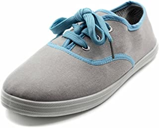 Charles Albert Women's Lace up Canvas Sneakers