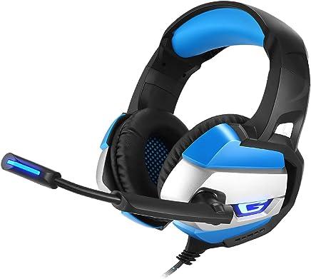 Cuffie da Gioco PS4 Casque Cuffie Stereo con Cavo PC Auricolari A Cancellazione di Rumore con Microfono, Luce LED, Surround Basso con Microfono per Xbox One/Laptop Tablet Gamer,Blue - Trova i prezzi più bassi