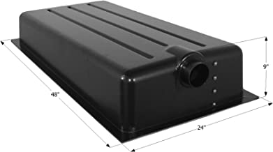 "ICON 12369 Holding Tank with Center End Drain HT198ED - 48"" x 24"" x 9"", 25 Gallon"