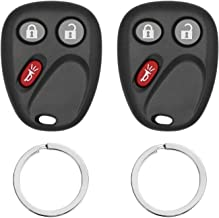 Keyless Entry Remote Control Car Key Fob Replacement for LHJ011, Fits 2003-2006 Chevy, GMC, Cadillac, Hummer, Pontiac, Saturn (Pack of 2)