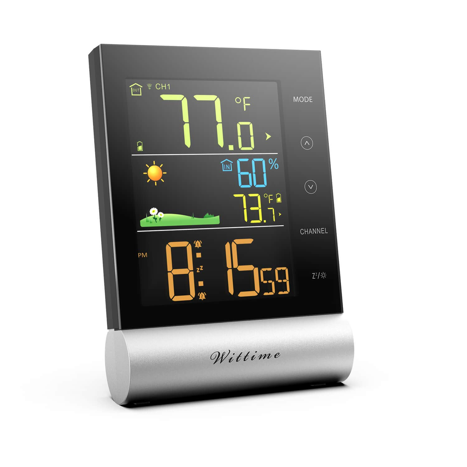 Window Temperature Thermometer Clear ℉ ℃ Circular Weather Station Outdoor IN9