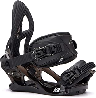 K2 Women's Charm: Snowboard Bindings (Black, Small)