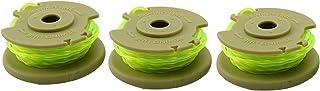 Gesh Ryobi One Plus AC80RL3 080 pulgadas de línea trenzada y carrete de repuesto para desbrozadoras inalámbricas de 18 V, 24 V y 40 V (paquete de 3)