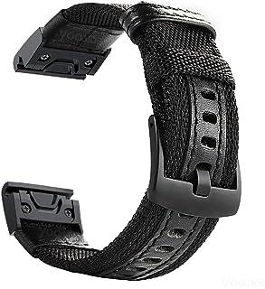 Fenix 5X/5X Plus Quick Fit Watch Band,YOOSIDE 26mm NOTA Nylon Durable Sweatproof Watch Band Strap for Garmin Fenix 5X/5X P...