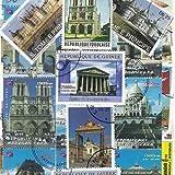 Collection de timbres Monuments Francais oblitérés - 50 timbres différents