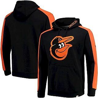 GMRZ Chaqueta con Capucha para Hombre, Sudaderas MLB con El Logo Baltimore Orioles Chándal del Equipo Major League Baseball Hoodie Diseño 3D Jersey Aficionados Unisexo,F,L