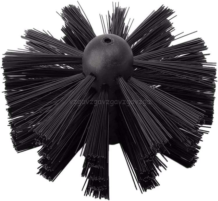 Color : Black, Size : 30CM WZCUICAN Nylon Brush with 6pcs Long Handle Flexible Pipe Rods for Chimney Kettle House Cleaner Cleaning Tool Kit