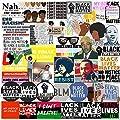 Black Lives Matter, Black Rights Defender Stickers[Big-50pcs]Office Laptop Decor Life Saying Art Waterproof Vinyl Decal for Car Window Glass Decoration Water Bottle Phone Case Skateboard Luggage Bike
