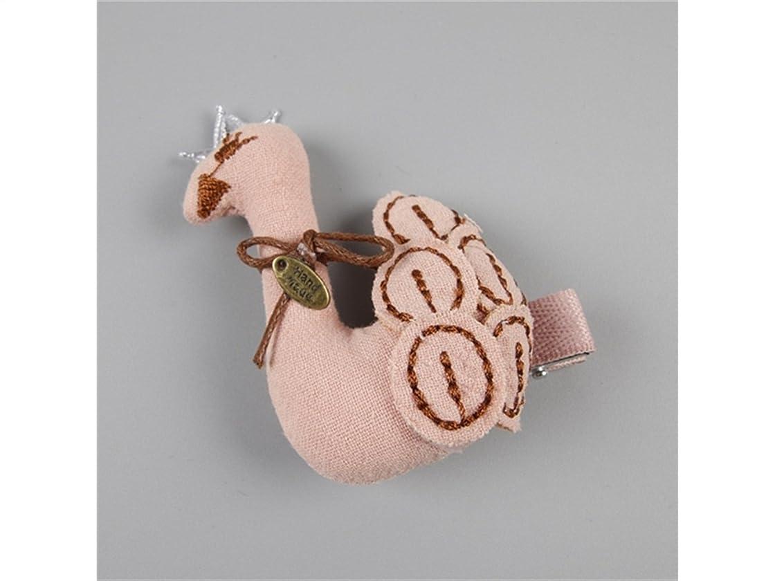 熱望する落ち着いて解決Osize 美しいスタイル 子供用スワンヘアクリップサイドクリップヘアピンヘアアクセサリーヘアスタイルツール(ピンク)