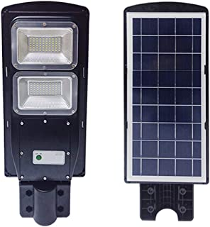TAIMIKO 40W Solar Street Light, Parking Lot Lights 15000mAH Iron Phosphate Battery LED Street Light, Wireless-Waterproof IP65-Light/PIR Motion Sensor for Garage,Patio,Garden,Driveway (40W)