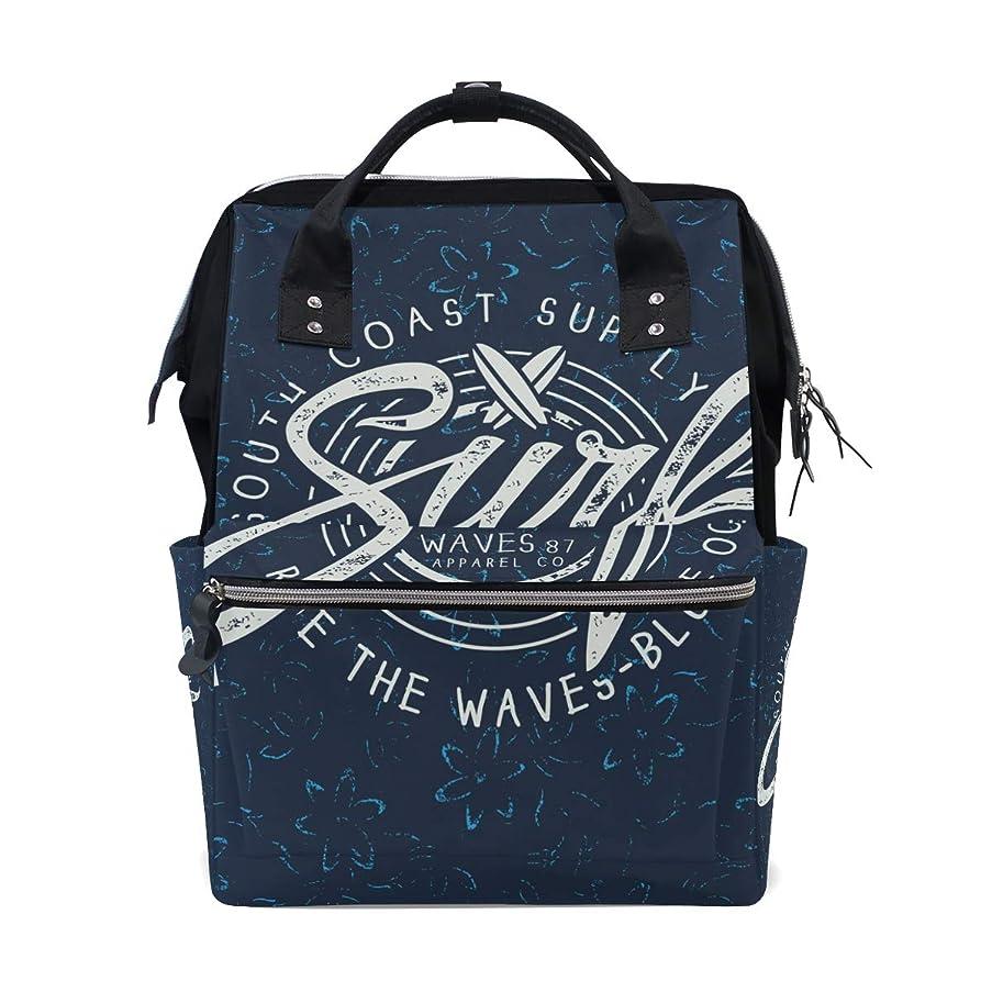 Summer Surf Dark Blue School Backpack Large Capacity Mummy Bags Laptop Handbag Casual Travel Rucksack Satchel For Women Men Adult Teen Children