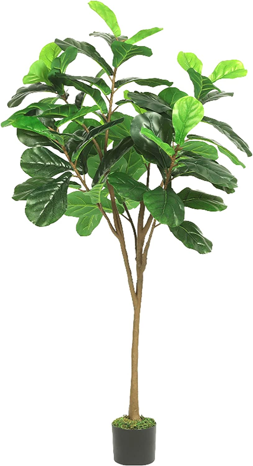 Artificial Fiddle Leaf Fig Tree Tall in Plant 5ft Max 84% Japan Maker New OFF Pot