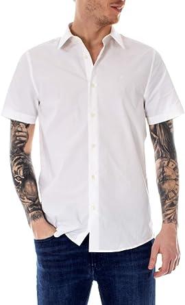 Calvin Klein Jeans Camisas de Manga Corta Hombre Small Blanco ...