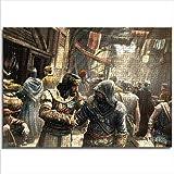 JieXi Mi binbin Rompecabezas de Madera para Adultos Assassin'S Creed Revelations HD 52x38cm tamaño Mediano 1000 Piezas de Juguetes para Hombres y Mujeres