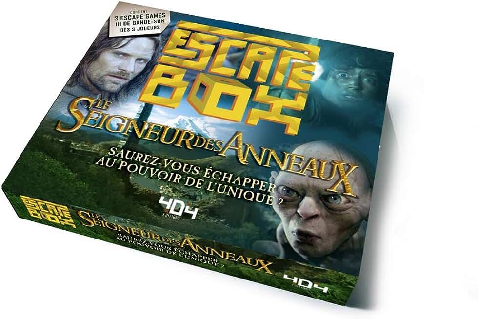 Escape Box Le Seigneur des anneaux - Escape game officiel adulte de 3 à 6 joueurs - Dès 14 ans et adulte
