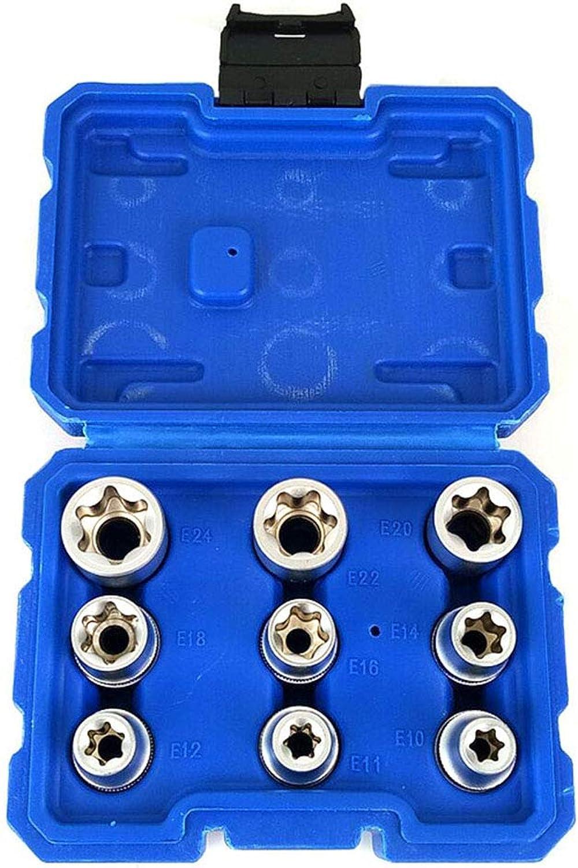 Hemobllo 9 Stücke E-Sockel 1 2 Torx Star Bits Chrom-Vanadium Stahl Buchse Muttern Set B07QCMF23D | Verschiedene Arten und Stile