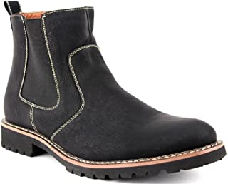 Men's 506020 Ankle High Round Toe Chelsea Dress Casual Boots