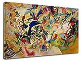 GRAFIC Cuadro de Kandinsky Composición VII-Wassily Kandinsky composición VII Lona Lienzo (Cuadro con Marco DE Madera, CM 130X85)