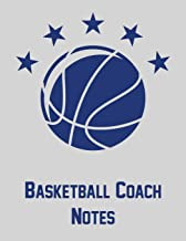 Basketball Coach Notes: Notebook with blank basketball court diagrams, notes, and undated calendar (8.5x11)