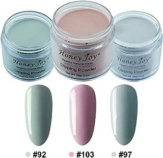3pcs 28g/Box Multi Colorful Dipping Powder Without Lamp Cure Nails Dip Powder Summer Gel Nail Color Powder Natural Dry (92-103-97)