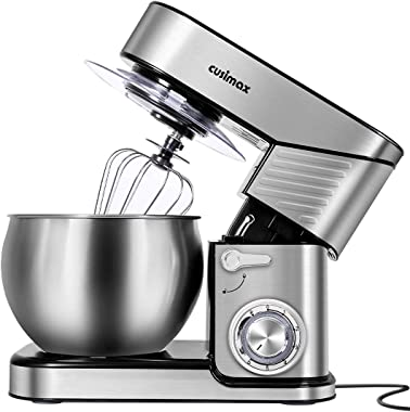 Stand Mixer, CUSIMAX 6.5-QT Stainless Steel Mixer 6-Speeds Tilt-Head Dough Mixers for Baking with Dough Hook, Wire Whisk &amp