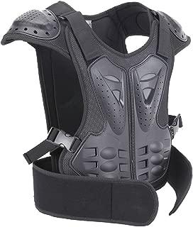BARHAR Kids Dirt Bike Body Chest Spine Protector Armor Vest Protective Gear for Dirtbike Bike Motocross Skiing Snowboarding Black (Lfor height 51-57)