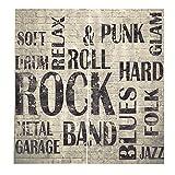 RYQRP Cortinas Opacas 3D Música Rock Cortinas de Salon en Poliéster para...