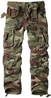 9981ef6dfc195 AKARMY Must Way Men's Cotton Casual Military Army Cargo Camo Combat Work  Pants with 8 Pocket