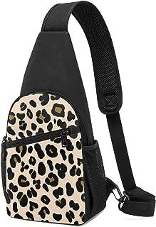 PGTry Leopard On Blush Sling Bag - Mochila para el hombro, ligera, mochila para el pecho, bolsa cruzada, para viajes, send...