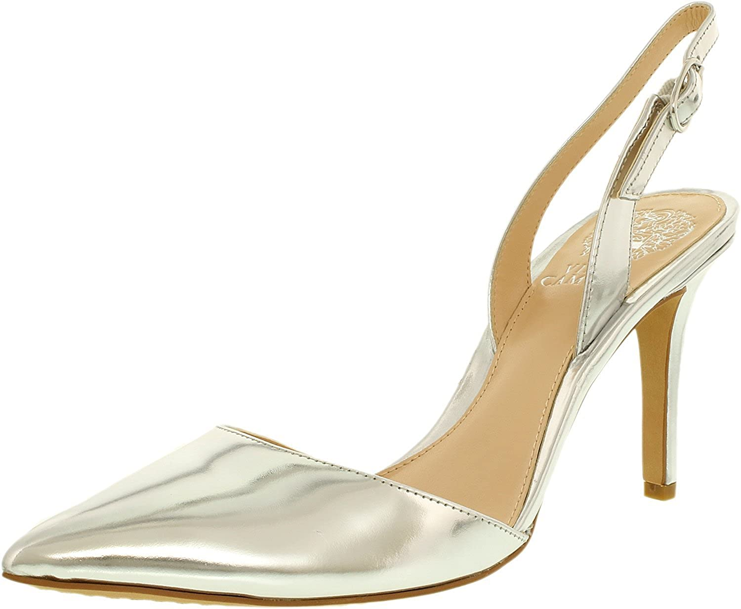 Vince Camuto Women's Barlowe Metallic Ankle-High Leather Pump