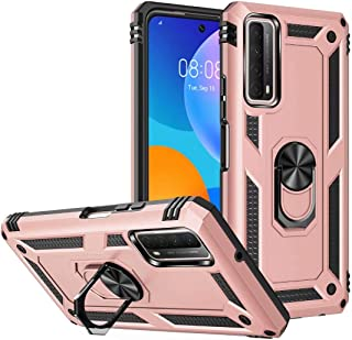 FTRONGRT Case for Huawei nova 8i, Rugged and shockproof, with Mobile Phone Holder, Cover for Huawei nova 8i-Rose Gold
