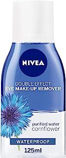 NIVEA Double Effect Eye Makeup Remover Sensitive Lashes Protection, 125 ml