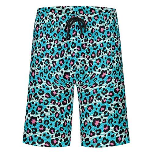 Bannihorse heren shorts vrije tijd short zomer strandmode sneldrogend zwembroek zwempak zwembroek shorts met verstelbare trekkoord zakken zonder mesh voering