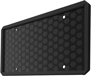 ONE PIX License Plate Frame Silicone License Plate Covers Holders Rust-Proof/Rattle-Proof/Weather-Proof for Car License Plate - Black