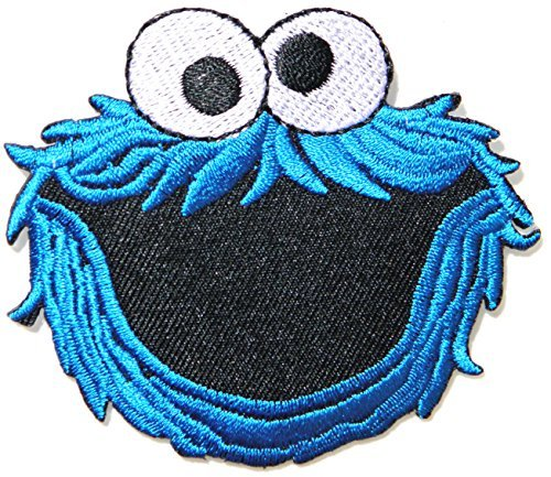 Cookie Monster Elmo Sesame Street Monster Kid Baby Jacket T shirt create logo maker design Patch Embroidered Badge Cloth Sign Costume Gift
