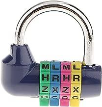 Blesiya Padlock 4 Digit Combination Lock Resettable for Gym, Sports, School & Employee Locker, Outdoor, Fence, Hasp and Storage - Metal & Steel