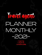 """Travel agent Planner Monthly -2021-: 12-Month Planner & Calendar with holiday Size: 8.5"""" x 11"""" monthly calendar with notes..."""