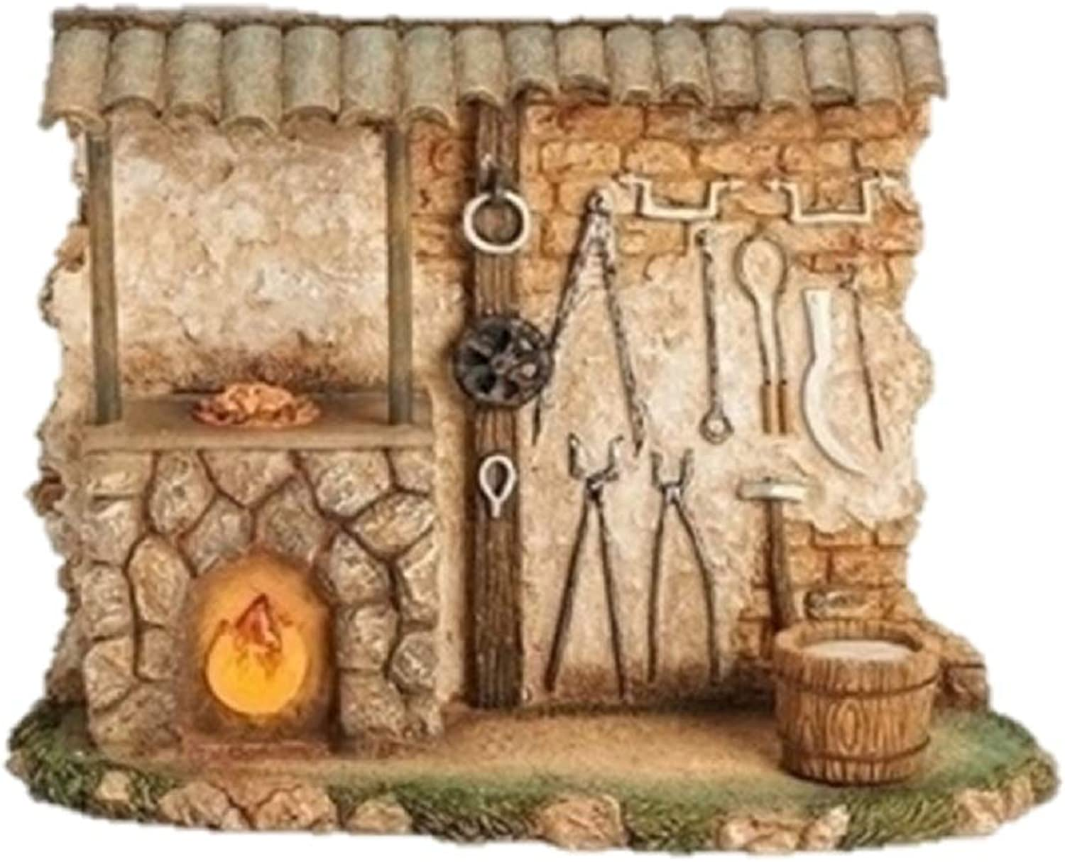 Fontanini Blacksmith Shop Light Up Building Italian Nativity Village Figurine