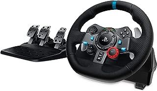 Logitech G29 Driving Force Volante de Carreras y Pedales, Force Feedback, Aluminio Anodizado, Palancas de cambio, Volante de Cuero, Pedales Ajustables, Enchufe EU, PS4/PS3/PC/Mac , Negro