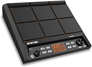 HXW PD705 Percussion Sampling Pad 9-Trigger Multipad All-in-one Electric Drum Set With Built-in Metronome, Effecter, Looper, 600+ Sounds, Firmware V2.06 Update