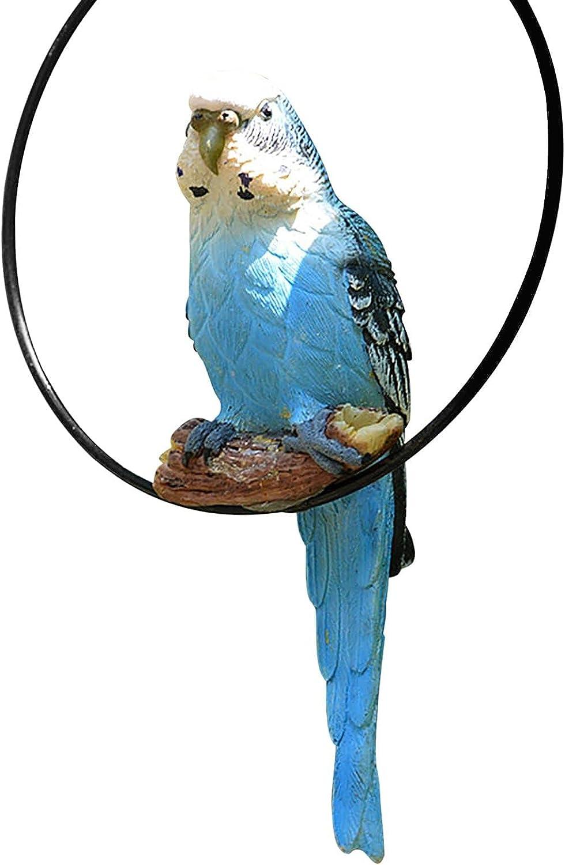 M B Very popular Perching on Ring Surprise price Parrot Yard Bird Garden Scul Statue Hanging