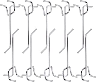 comprar comparacion DOITOOL 50 piezas Ganchos para tableros con agujeros de Metal ganchos para estanterías y organizador de garaje gancho de c...