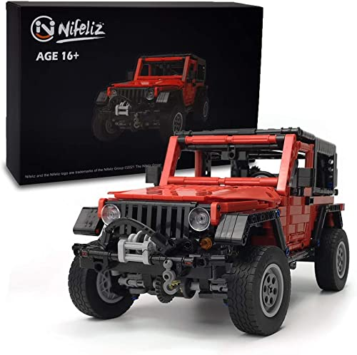 Nifeliz Mini Off-Road Car Wrange MOC Technique Building Blocks and Engineering Toy, Adult Collectible Model Cars Kits to Build, 1:14 Scale Truck Model (1287 Pieces)