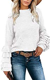 Best ruffle knit sweater Reviews